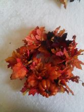 Brilliant Artificial Autumn Leaves Wreath for Fall