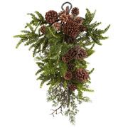 Pine Teardrop with Pinecones Branches