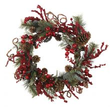 Berry Wreath with Assorted Berries