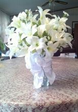Easter Lily Bouquet Silk
